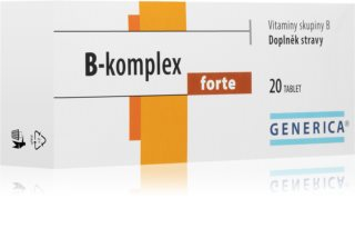 Generica B-komplex Forte kombinace vitaminů skupiny B