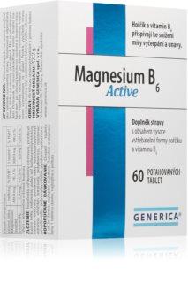 Generica Magnesium B6 Active organická, vysoce vstřebatelná forma hořčíku