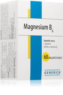 Generica Magnesium B6 organická, vysoce vstřebatelná forma hořčíku