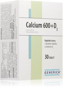 Generica Calcium Pantothenicum 600 + D3 pro pevné a silné kosti