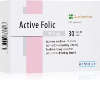 Generica Active Folic podpora imunitního systému, výživa v těhotenství a během kojení