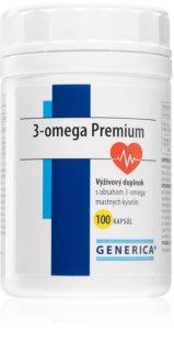 Generica 3-Omega Premium čistý rybí olej s blahodárným účinkem na srdce, mozek a oči