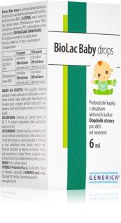 Generica BioLac Baby probiotické kapky pro děti s obsahem aktivních kultur přítomných v mateřském mléku