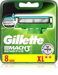 Gillette Mach3 Sensitive Vervangende Open Messen  8st.
