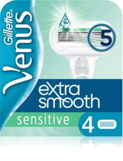 Gillette Venus Extra Smooth Sensitive recarga de lâminas 4 pçs