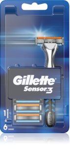 Gillette Sensor 3 brijač + zamjenske britvice 6 kom