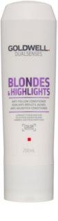 Goldwell Dualsenses Blondes & Highlights kondicionáló szőke hajra semlegesíti a sárgás tónusokat