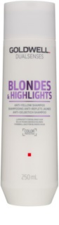 Goldwell Dualsenses Blondes & Highlights Shampoo for Blonde Hair for Yellow Tones Neutralization