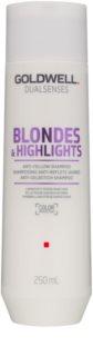 Goldwell Dualsenses Blondes & Highlights sampon szőke hajra semlegesíti a sárgás tónusokat