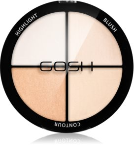 Gosh Strobe'n Glow Contouring and Highlighting Palette