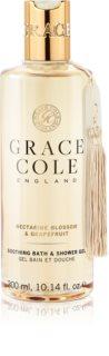 Grace Cole Nectarine Blossom & Grapefruit zklidňující koupelový a sprchový gel