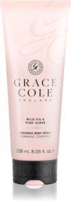 Grace Cole Wild Fig & Pink Cedar rozjasňující tělový peeling