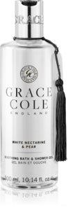 Grace Cole White Nectarine & Pear sprchový a koupelový gel