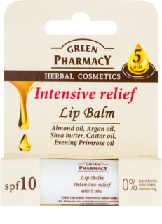 Green Pharmacy Lip Care intensives Feuchtigkeit spendendes Lippenbalsam LSF 10