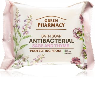 Green Pharmacy Sage & Thyme naturalne mydło ze środkiem antybakteryjnym