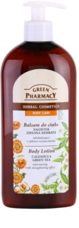 Green Pharmacy Body Care Calendula & Green Tea Rejuvenating Body Lotion with Strengthening Effect