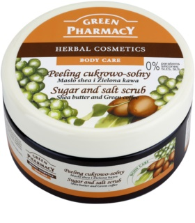 Green Pharmacy Body Care Shea Butter & Green Coffee cukrovo-soľný peeling
