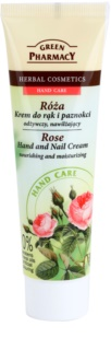 Green Pharmacy Hand Care Rose crema nutriente e idratante per mani e unghie