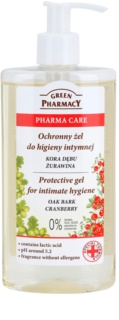 Green Pharmacy Pharma Care Oak Bark Cranberry gel protettivo per l'igiene intima
