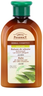Green Pharmacy Hair Care Aloe bálsamo para cabello teñido y químicamente tratado