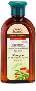 Green Pharmacy Hair Care Ginseng shampoo per cuoi capelluti grassi e punte secche