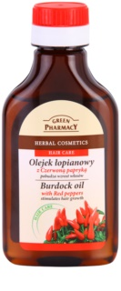 Green Pharmacy Hair Care Red Peppers olio di bardana attivatore di crescita dei capelli