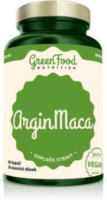 GreenFood Nutrition ArginMaca doplněk stravy pro podporu potence, zdravé prostaty a vitality