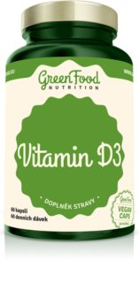 GreenFood Nutrition Vitamín D3 kapsle doplněk stravy  pro podporu imunitního systému