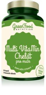 GreenFood Nutrition Multi VitaMin Chelát pro muže doplněk stravy pro muže