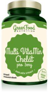 GreenFood Nutrition Multi VitaMin Chelát pro ženy doplněk stravy pro ženy