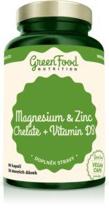 GreenFood Nutrition Hořčík + Zinek Cheláty a Vitamín D3