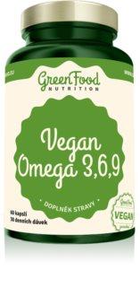 GreenFood Nutrition Omega 3,6,9 Vegan doplněk stravy s revitalizujícím účinkem