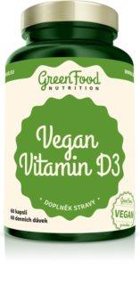 GreenFood Nutrition Vitamín D3 Vegan doplněk stravy pro podpru imunitního systému