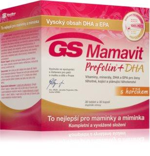GS Mamavit Prefolin kombinace vitaminů a minerálů pro období plánování těhotenství, těhotenství i kojení