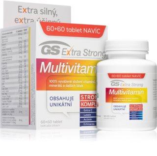 GS Extra Strong Multivitamin vyvážené složení vitamínů, minerálů a dalších látek