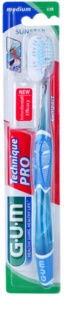 G.U.M Technique PRO Compact brosse à dents avec capuchon de protection medium