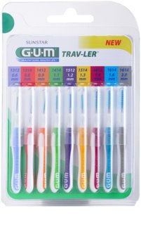 G.U.M Trav-Ler Interdental Brushes, 9 pcs Mix