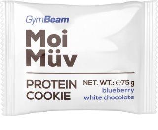 GymBeam MoiMüv Protein Cookie proteinová sušenka příchuť  blueberry & white chocolate