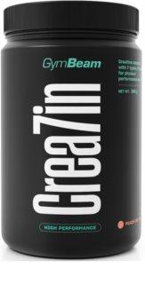 GymBeam Kreatin Crea7in podpora tvorby svalové hmoty příchuť peach ice tea