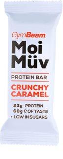 GymBeam MoiMüv Protein Bar proteinová tyčinka příchuť crunchy caramel