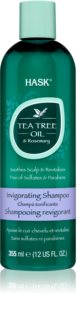 HASK Tea Tree Oil & Rosemary shampoing rafraîchissant pour cuir chevelu sec avec démangeaisons