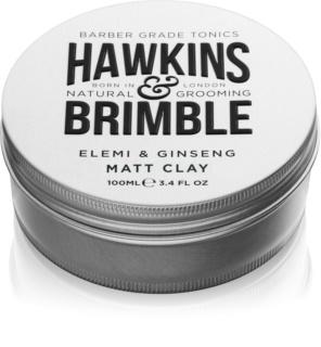 Hawkins & Brimble Natural Grooming Elemi & Ginseng pomata per capelli effetto matte