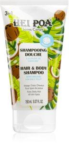 Hei Poa Organic Coconut Oil šampon s kokosovým olejem na tělo a vlasy