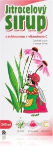 Silvita Jitrocelový sirup Echinacea+vitamín C doplněk stravy  při zánětu v krku a dutině ústní