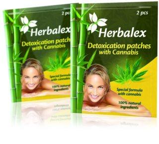 Herbalex Hřejivá náplast s kaštanem detoxikační náplasti s konopím