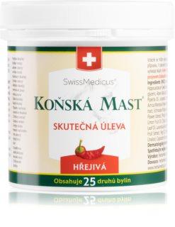 Herbamedicus Koňská mast hřejivá pro úlevu při bolestech svalů, kloubů a páteře