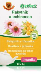 HERBEX Rakytník a třapatka čaj porcovaný bylinný čaj pro podporu imunitního systému