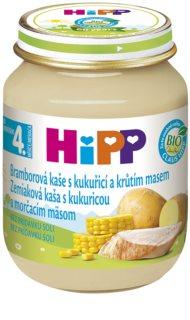 Hipp BIO bramborová kaše s kukuřicí a krůtím masem