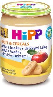 Hipp BIO jablka a banány s dětskými keksy dětský příkrm