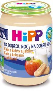 Hipp BIO kaše s keksy a jablky na dobrou noc